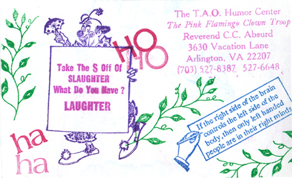 Business cards tao humor center laughter colourmoves