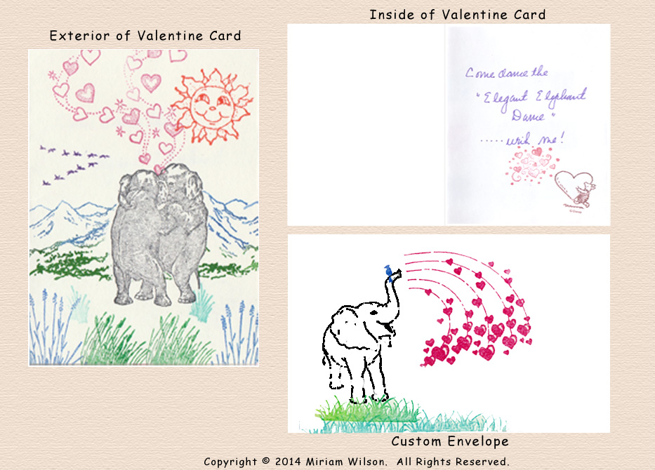 Valentines with Elephants