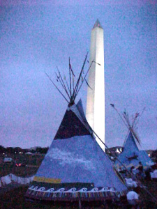 Tipi at the Washington Monument