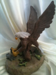 Eagle clay sculpture