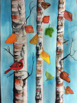 Birch Trees Painted by Nancy Morehead